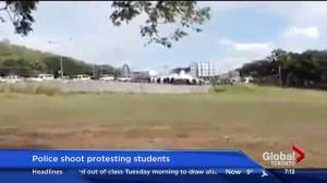 Papua New Guinea student protesters shot by police