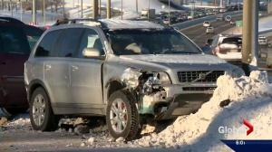 Slick streets cause collisions in Calgary
