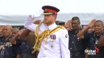 Prince Harry lays wreath at war memorial in Fiji