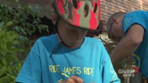 Whitby boy to bike to Ottawa for Grandview Children's Centre