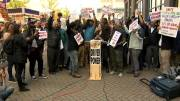 Play video: Uber and Lyft drivers go on strike to protest declining wages