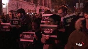 Spanish journalists hold vigil for Paris shooting victims