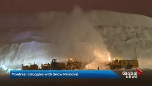 Montreal snow dump piled high
