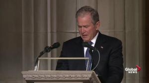 'The best father': George W. Bush emotionally speaks about father