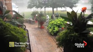 Orillia hammered by hail as storm caught on video