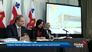 Montreal Mayor Valérie Plante discusses demerged cities, official opposition