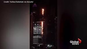 Flames engulf Dubai's Torch Tower