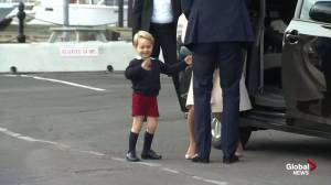 Prince George waves goodbye to Canada