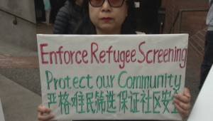 Supporters of Shen family and Syrian community clash outside B.C. courthouse