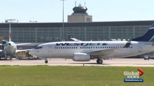 WestJet plan nearly collides with drone
