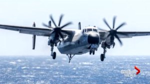 U.S. Navy plane with 11 aboard crashes into Pacific; 8 rescued