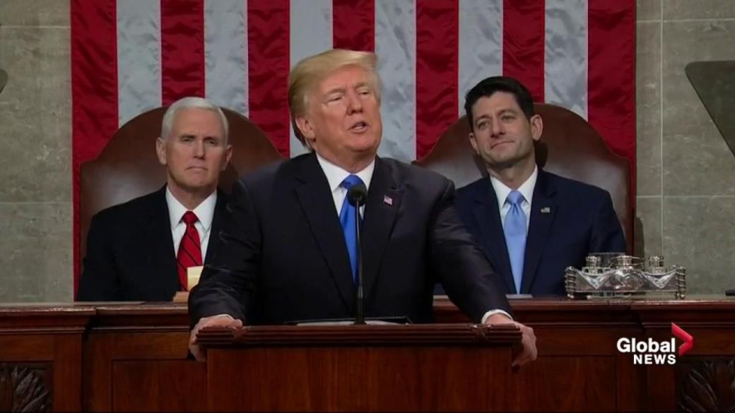 Click to play video 'State of the Union: Trump says he's signed executive order to keep Guantanamo Bay open'