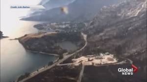 MP shares aerial footage of Waterton after fire