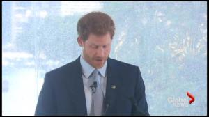 Prince Harry launches countdown to Invictus Games