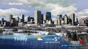 Edmonton early morning weather forecast: Friday, November 10, 2017