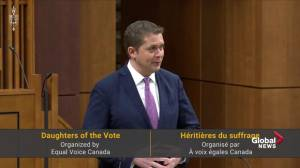 Andrew Scheer alludes to Jody-Wilson Raybould, Jane Philpott in Daughters of the Vote speech