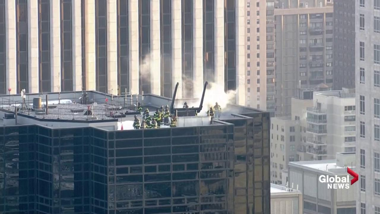 Fire at Trump Tower in NY