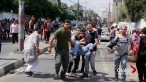 Israel airstrike hits U.N. school, 10 dead