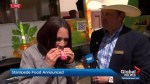 Global's Deb Matejicka taste tests new Calgary Stampede food