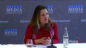 'Very concerned' Russia is meddling in election, Freeland says