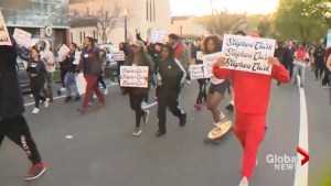 Protesters march through downtown Sacramento for second day