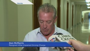 Don McMorris was charged with impaired driving Friday morning