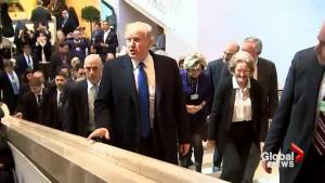 Speculation surrounds Trump's agenda as he arrives at World Economic Forum