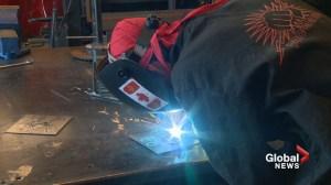 Calgary high school students use 'metal magic' to create Canada 150 tribute