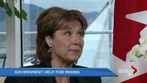 B.C. government announces help for mining sector, hires Taylor as consultant