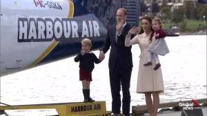 The Royal family waves goodbye to Canada