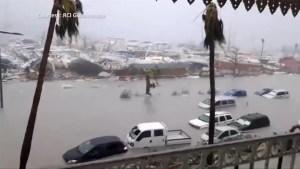 Hurricane Irma batters Caribbean island of St. Maarten