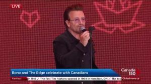 Bono and The Edge celebrate Canada 150 in Ottawa
