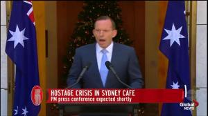 Australian PM comments on hostage Crisis in Sydney