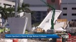 Cracks spotted in Miami bridge before collapse