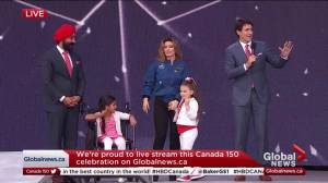 Trudeau apologizes for failing to mention Alberta in Canada 150 speech (00:15)