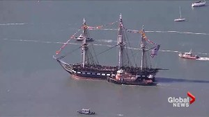 The USS Constitution sails again