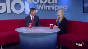 Re-elected Mayor Brian Bowman on Global News Morning