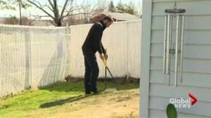 Man trades in crane for pooper scooper