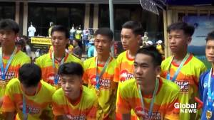 Thai soccer players trapped in flooded cave mark 1 year anniversary of event with commemorative marathon