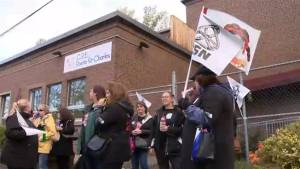 Quebec daycare workers strike for 1 day