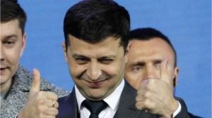 Comedian becomes Ukraine's president
