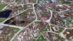 Aerial footage shows sheer scale of devastation on the island of Barbuda