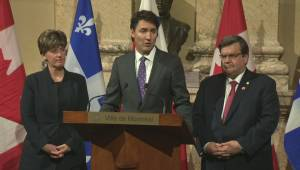Prime Minister Trudeau 'stands with' flood-hit Montreal