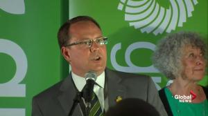 Ontario Election: Mike Schreiner addresses Green Party supporters after projected win