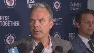 Winnipeg Jets GM Kevin Cheveldayoff on the opening day of training camp