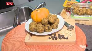 Fall Meal Ideas: Pumpkin Spice Energy Bites