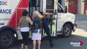 Collision in front of Kelowna fire hall (00:31)