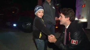 Justin Trudeau meets 8-year-old boy who cried after not getting into rally