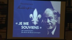 Former politicians, PQ supporters gather on anniversary of René Lévesque's death