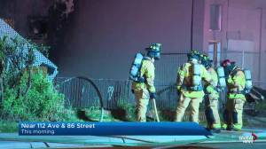 North Edmonton fire damages home, building